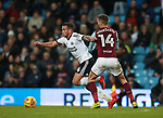 Samir Carruthers of Sheffield Utd goes past Conor Hourihane of Aston Villa during the Championship match at Villa Park Stadium, Birmingham. Picture date 23rd December 2017. Picture credit should read: Simon Bellis/Sportimage