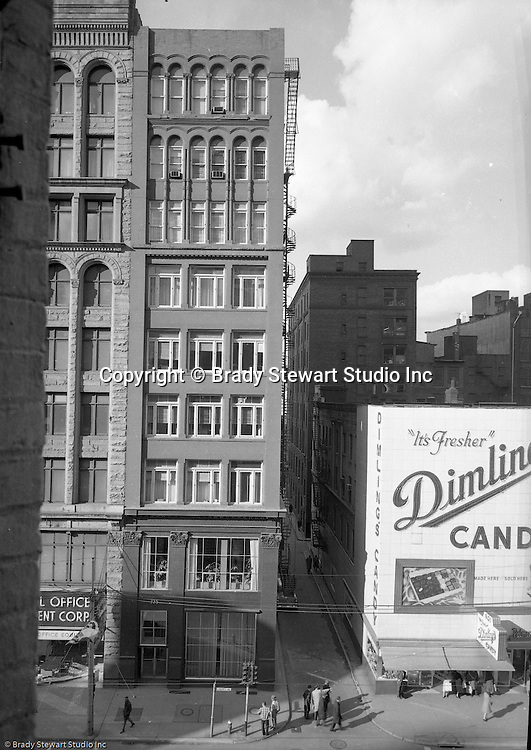 Pittsburgh PA:  View of the Gamble Building at 725 Liberty Avenue in Pittsburgh - 1959.  Brady Stewart Studio occupied the entire 4th flood of the building.  The space was perfect for a commercial photography studio with 20 ft ceilings and plenty of space.