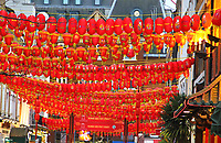 London's vibrant Chinatown district prepares for Chinese New Year celebrations. January 23rd 2020<br /> <br /> Photo by Keith Mayhew