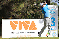 Oliver Farr (WAL) on the 13th tee during the Pro-Am of the Challenge Tour Grand Final 2019 at Club de Golf Alcanada, Port d'Alcúdia, Mallorca, Spain on Wednesday 6th November 2019.<br /> Picture:  Thos Caffrey / Golffile<br /> <br /> All photo usage must carry mandatory copyright credit (© Golffile | Thos Caffrey)