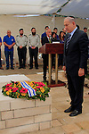 Israel, Prime Minister Benjamin Netanyahu laying a wreath on the tomb of Lieutenant Colonel John Henry Patterson