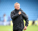 Sheffield United's Chris Wilder celebrates at the final whistle during the League One match at the Priestfield Stadium, Gillingham. Picture date: September 4th, 2016. Pic David Klein/Sportimage