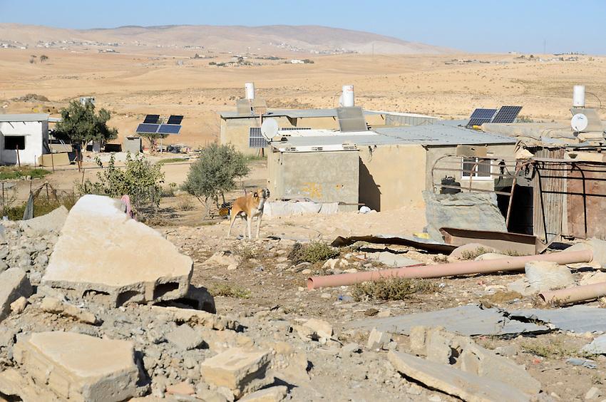 El Serah, an unrecognized village in Israel's Negev desert, slated for demolition.