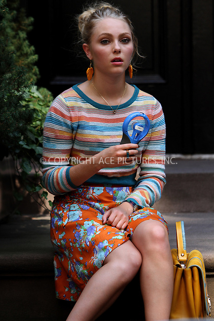 WWW.ACEPIXS.COM<br /> <br /> September 11 2013, New York City<br /> <br /> Actress AnnaSophia Robb was on the set of the TV show 'The Carrie Diaries' on September 11 2013 in New York City<br /> <br /> By Line: Nancy Rivera/ACE Pictures<br /> <br /> <br /> ACE Pictures, Inc.<br /> tel: 646 769 0430<br /> Email: info@acepixs.com<br /> www.acepixs.com
