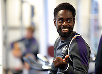 Pictured: Nathan Dyer Monday 04 July 2016<br />Re: Swansea City FC players at the Landore training ground, return for this season's preparation.