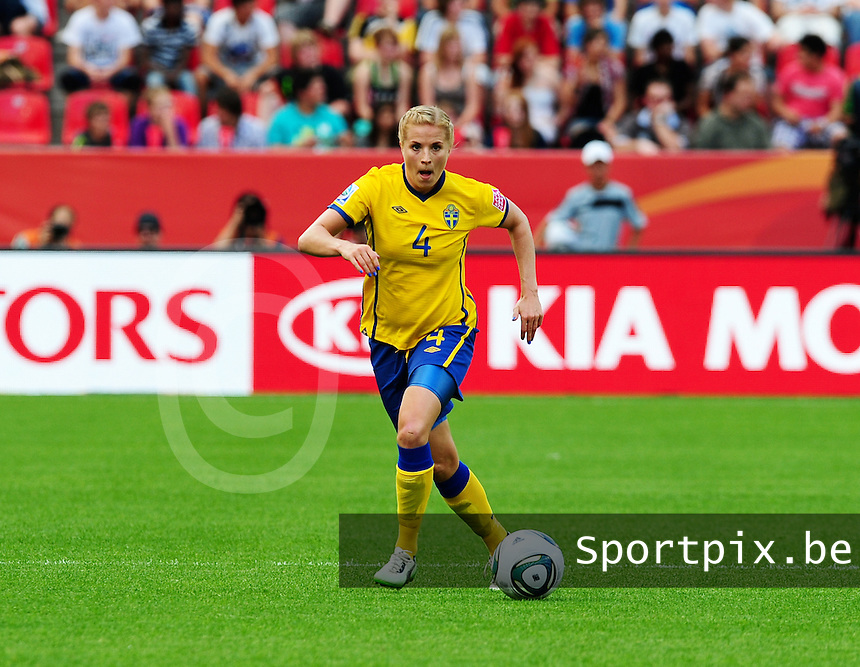 Fifa Women's World Cup Germany 2011 : Colombia - Sweden at Bayarena Leverkusen : Annica Svensson.foto DAVID CATRY / Vrouwenteam.be