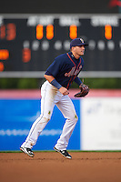 Binghamton Mets shortstop Gavin Cecchini (2) during a game against the Trenton Thunder on August 8, 2015 at NYSEG Stadium in Binghamton, New York.  Trenton defeated Binghamton 4-2.  (Mike Janes/Four Seam Images)