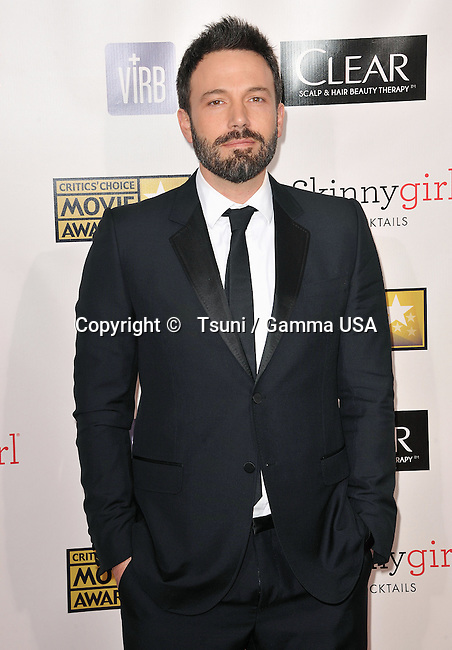 Ben Affleck  at the 18th Ann. Critics Choice Awards 2013 at the Barker Hangar in Santa Monica.