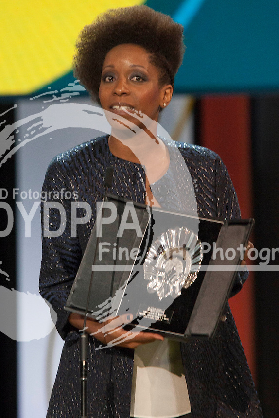 Yordanka Arriosa recieves the best actress award