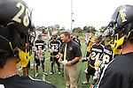 Redondo Beach, CA 05/14/11 - Jon Fox, Foothill's head coach, gives his players last minute instructions before their game against Mira Costa for the US Lacrosse CIF Southern Section Championship game.