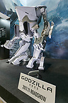 A robot from the movie Godzilla on display during the AnimeJapan 2017 at Tokyo Big Sight on March 25, 2017, Tokyo, Japan. AnimeJapan 2017 is a trade show promoting ''Everything Anime'' to local and foreign fans and businesses. The show is held over four-day days with March 23-24 reserved for business visitors and March 25-26 for the public. It is expected to attract some 120,000 visitors, including cosplayers. (Photo by Rodrigo Reyes Marin/AFLO)