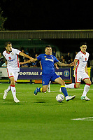 AFC Wimbledon's Cody McDonald tries for a shot during the Sky Bet League 1 match between AFC Wimbledon and MK Dons at the Cherry Red Records Stadium, Kingston, England on 22 September 2017. Photo by Carlton Myrie / PRiME Media Images.