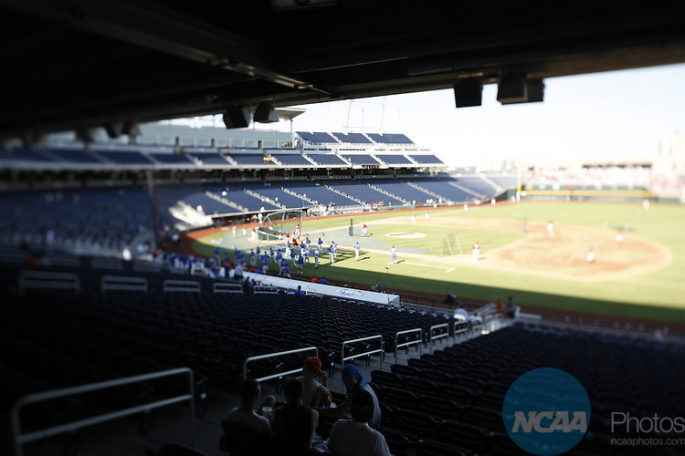 28 JUNE 2011:  The University of South Carolina takes on the University of Florida during the Division I Men's Baseball Championship held at TD Ameritrade Stadium in Omaha, NE.  Jamie Schwaberow/NCAA Photos