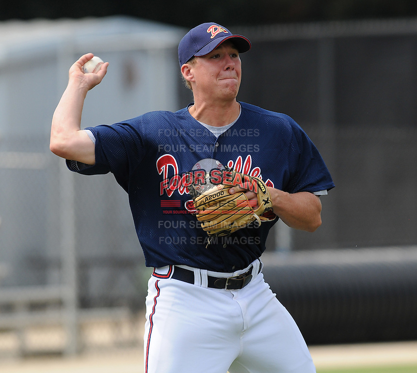 July 15, 2009: Infielder Jordan Kreke (19) of the Danville Braves, rookie Appalachian League affiliate of the Atlanta Braves, before a game at Dan Daniel Memorial Park in Danville, Va. Photo by:  Tom Priddy/Four Seam Images