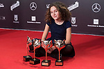 Laia Artigas poses with all the 'Verano 1993' Awards  during Feroz Awards 2018 at Magarinos Complex in Madrid, Spain. January 22, 2018. (ALTERPHOTOS/Borja B.Hojas)