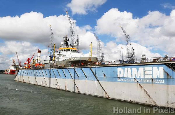 Nederland  Rotterdam - 2017. Damen Shiprepair.  Foto Berlinda van Dam / Hollandse Hoogte