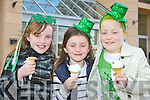Lia Murphy, Tara Donnellan and Alice O'Donoghue enjoying an ice cream at the Killarney Outlet Centre funday on Saturday..