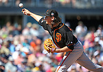 SF Giants' Jeff Samardzija pitches against the Seattle Mariners in a spring training game in Peoria, Ariz., on Wednesday, March 16, 2016. <br />