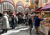 Switzerland, Ticino, Lugano (Old Town): specalties Gabbani at Via Pessina | Schweiz, Tessin, Lugano (Altstadt): Spezialitaeten Gabbani in der Via Pessina