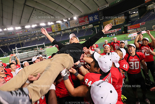 Satoshi Fujita (Frontiers), <br /> DECEMBER 12, 2016 - American Football : <br /> X League Championship &quot;Japan X Bowl&quot; <br /> between Obic Seagulls 3-16 Fujitsu Frontiers <br /> at Tokyo Dome, Tokyo, Japan. <br /> (Photo by YUTAKA/AFLO SPORT)