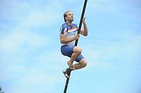 FIERLJEPPEN: BUITENPOST: 01-07-2017, Tweekamp Fierljeppen, Friesland wint met een verschil van 5.66 meter, ©foto Martin de Jong