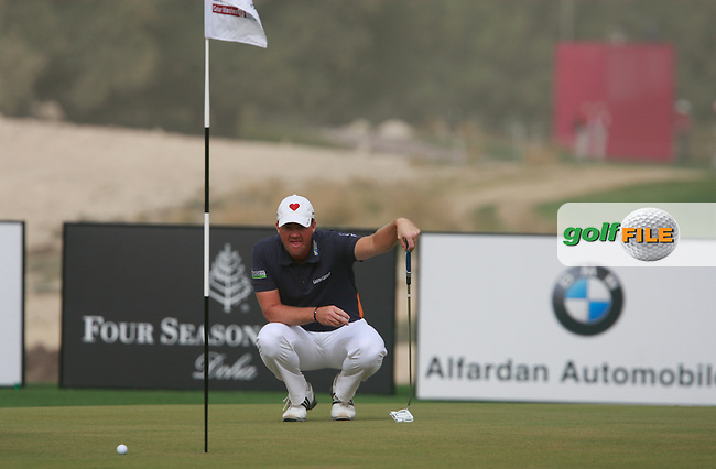 Peter Hanson (SWE) on the 2nd green during Thursday's Round 1 of the 2012 Commercialbank Qatar Masters presented by Dolphin Energy at Doha Golf Club, Qatar, 2nd February 2012 (Photo Eoin Clarke/www.golffile.ie)