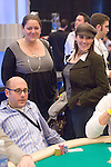 Actors Camryn Manheim and Ricki Lake visit with fellow actor, Willie Garson.