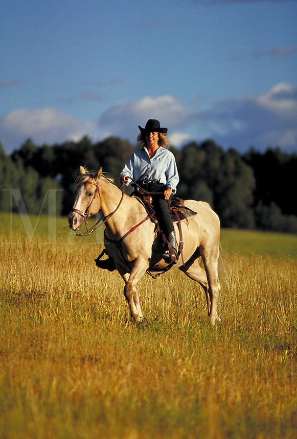 Sharon Johnson (MR498) horseback riding, Summit County, CO. Sharon Johnson (MR498). Summit County, Colorado.