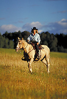Sharon Johnson (MR498) horseback riding, Summit County, CO. Sharon Johnson (MR498). Summit County, Colorado.