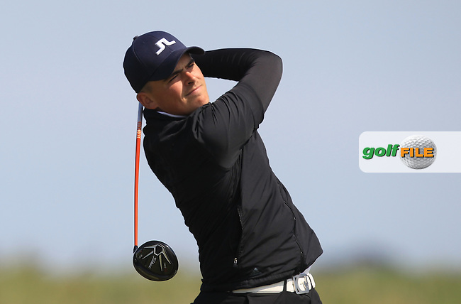 Charlie Strickland (ENG) on the 11th tee during Round 4 of the Flogas Irish Amateur Open Championship at Royal Dublin on Sunday 8th May 2016.<br /> Picture:  Golffile / Thos Caffrey