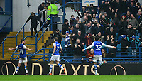 Sheffield Wednesday's George Boyd, left, celebrates scoring the opening goal <br /> <br /> Photographer Chris Vaughan/CameraSport<br /> <br /> The EFL Sky Bet Championship - Sheffield Wednesday v Bolton Wanderers - Saturday 10th March 2018 - Hillsborough - Sheffield<br /> <br /> World Copyright &copy; 2018 CameraSport. All rights reserved. 43 Linden Ave. Countesthorpe. Leicester. England. LE8 5PG - Tel: +44 (0) 116 277 4147 - admin@camerasport.com - www.camerasport.com