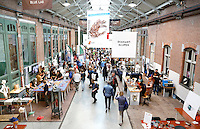 Nederland  Amsterdam 2016. Ambacht In Beeld in de Hallen. Met filmvertoningen, workshops, lezingen, demonstraties en masterclasses is het Ambacht in Beeld Festival hét festival over ambacht. Het festival richt zich op topambachten, vakmanschap en meesterschap. Foto Berlinda van Dam / Hollandse Hoogte