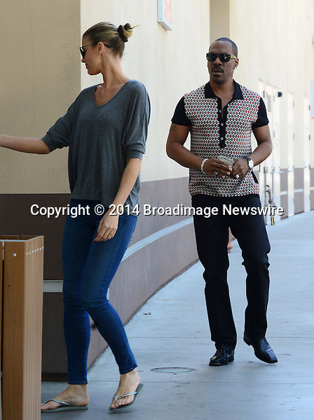 Pictured: Eddie Murphy, Paige Butcher<br /> Mandatory Credit &copy; RDLA/Broadimage<br /> Eddie Murphy and model girlfriend Paige Butcher buying coffee together in Studio City<br /> <br /> <br /> 3/18/14, Studio City, California, United States of America<br /> <br /> Broadimage Newswire<br /> Los Angeles 1+  (310) 301-1027<br /> New York      1+  (646) 827-9134<br /> sales@broadimage.com<br /> http://www.broadimage.com