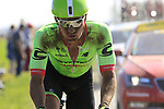 The peloton including Ryan Mullen (IRL) Cannondale-Drapac on pave sector 17 Hornaing a Windignies during the 115th edition of the Paris-Roubaix 2017 race running 257km Compiegne to Roubaix, France. 9th April 2017.<br /> Picture: Eoin Clarke | Cyclefile<br /> <br /> <br /> All photos usage must carry mandatory copyright credit (&copy; Cyclefile | Eoin Clarke)