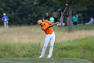 Bethesda, MD - July 2, 2017: Ricky Fowler takes his second shot during final round of professional play at the Quicken Loans National Tournament at TPC Potomac  in Bethesda, MD, July 2, 2017.  (Photo by Elliott Brown/Media Images International)