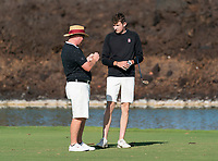 WAIKOLOA, HI - FEBRUARY 7: Waikoloa, HI. - February 7, 2020: The Stanford Cardinal play the second round of the Amer Ari Golf Tournament at the Kings Course in Waikoloa, HI during a game between Amer Ari Invitational and Stanford Golf M at Waikoloa Kings Course on February 7, 2020 in Waikoloa, Hawaii.