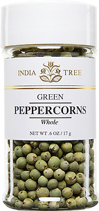 30222 Green Peppercorns, Small Jar 0.6 oz, India Tree Storefront