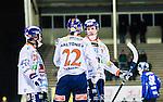 Uppsala 2014-12-10 Bandy Elitserien IK Sirius - Bolln&auml;s GIF :  <br /> Bolln&auml;s Ville Aaltonen gratuleras av Daniel Berlin efter sitt 0-1 m&aring;l under matchen mellan IK Sirius och Bolln&auml;s GIF <br /> (Foto: Kenta J&ouml;nsson) Nyckelord:  Bandy Elitserien Uppsala Studenternas IP IK Sirius IKS Bolln&auml;s GIF BGIF Giffarna jubel gl&auml;dje lycka glad happy