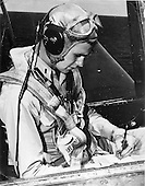 Undated photo of future United States President George H.W. Bush as a United States Navy pilot seated in the cockpit of an Avenger.  Bush enlisted in the U.S. Navy as a Seaman 2nd Class, on his 18th birthday, June 12, 1942.   He received his wings and commission in June, 1943  while still 18 years old.  He was the youngest pilot in the Navy at that time. On active duty from August 1942 to September 1945, during World War II, Mr. Bush flew torpedo bombers off the USS San Jacinto. On September 2, 1944, Mr. Bush's plane was hit by anti-aircraft fire while making a bombing run over the Bonin Island of Chichi Jima, 600 miles south of Japan. Although the plane was afire and severely damaged, he completed his strafing run on the targeted Japanese installation before flying towards sea to bail out. Mr. Bush was able to bail out successfully and was rescued by a Navy submarine, the USS Finback. Tragically, his two crew members were killed. For his courageous service in the Pacific Theater, Mr. Bush was awarded the Distinguished Flying Cross and three Air Medals. .Credit: White House via CNP