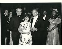 Le Premier Ministre Pierre Trudeau participe au bal hongrois de la Sainte-Etienne, le 10 mars 1984, au Reine-Elizabeth<br /> <br /> <br /> PHOTO :  Agence Quebec Presse