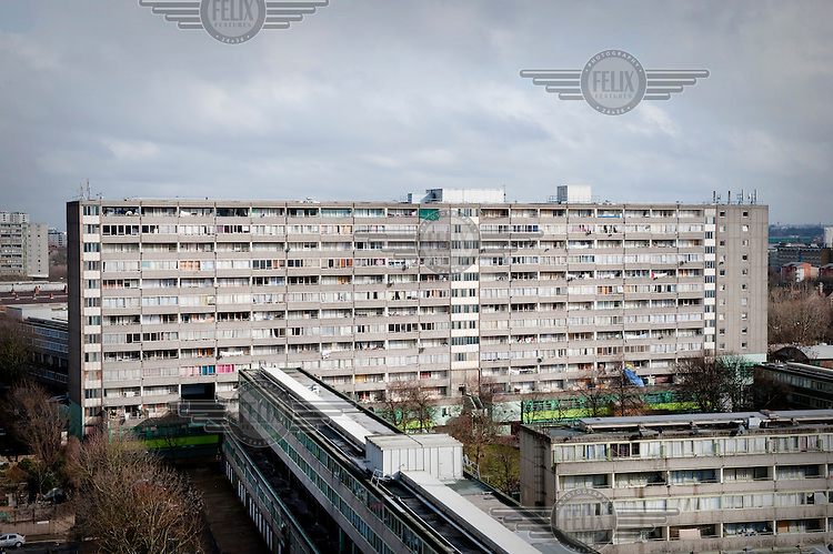 The Aylesbury Estate in Walworth, Southwark, London. Most of the estate, which houses some of the poorest people in the country, is due for demolition within the next 10 years.