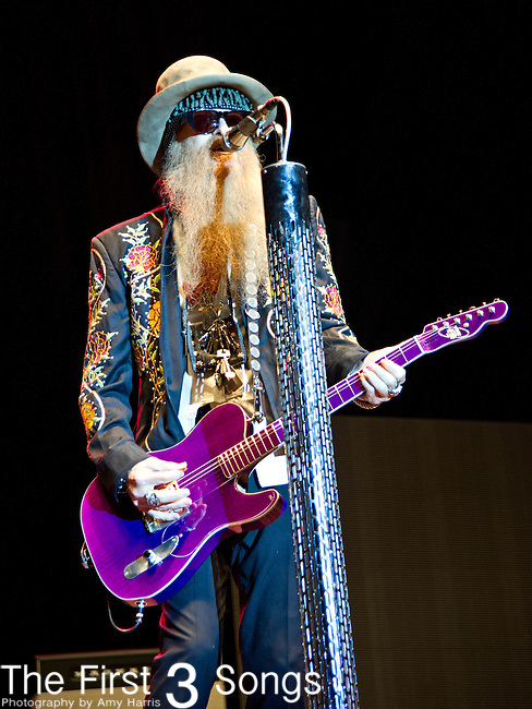 Billy Gibbons of ZZ Top performs during the The Beale Street Music Festival in Memphis, Tennessee.
