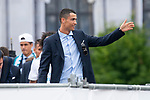 Real Madrid Cristiano Ronaldo during the celebration of the Thirteen Champions League at Cibeles Fountain in Madrid, Spain. May 27, 2018. (ALTERPHOTOS/Borja B.Hojas)