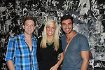 "Davis Mallory and Mandi Moyer stars of MTV's Real World Challenge Rivals pose with Rodiney Santiago ""The A-List New York""  as he stars in Parker & Dizzy's Fabulous Journey to the End of the Rainbow at the 15th Annual Fringe NYC, (The New York International Fringe Festival) in August 12 to August 28 2011 at the Ellen Stewart Theatre, NYC, NY. (Photo by Sue Coflin/Max Photos)"