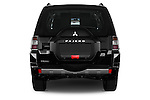Straight rear view of 2016 Mitsubishi Pajero Instyle 5 Door Suv Rear View  stock images