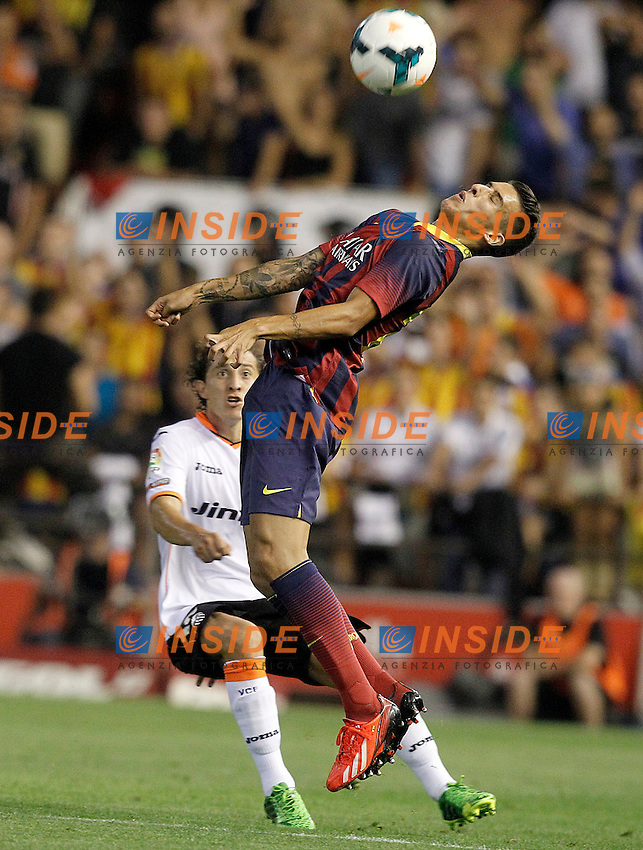 Valencia's Andres Guardado (l) and FC Barcelona's Cristian Tello during La Liga match.September 1,2013. (ALTERPHOTOS/Acero) <br /> Football Calcio 2013/2014<br /> La Liga Spagna<br /> Foto Alterphotos / Insidefoto <br /> ITALY ONLY