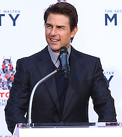 HOLLYWOOD, CA - DECEMBER 03: Tom Cruise attending the Ben Stiller Hand/Footprint Ceremony held at TCL Chinese Theatre on December 3, 2013 in Hollywood, California. (Photo by Xavier Collin/Celebrity Monitor)