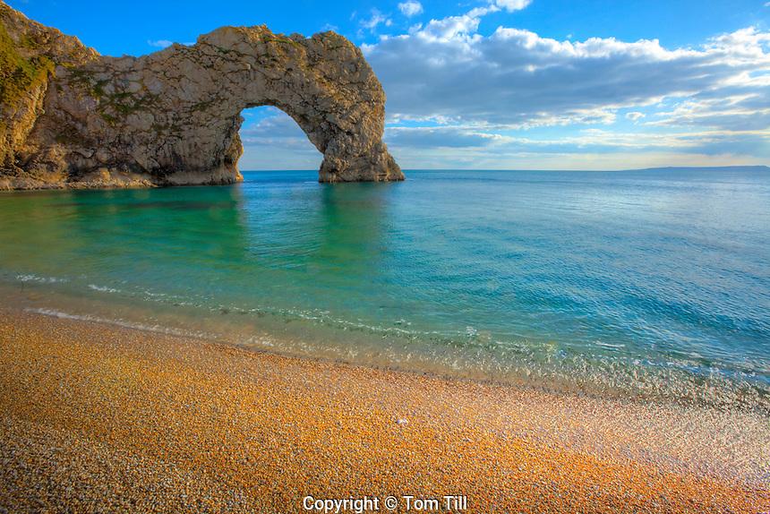 Durdle Door Sea Arch, Jurassic Coast, Dorset, England, United Kingdom    Natural limestone arch