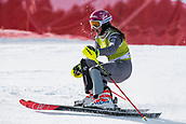 17th March 2018, Àvet Slope, Soldeu, Andorra; FIS Alpine Ski European Cup, Slalom Ladies Finals; 6 GRILLET AUBERT JAde from FRA   during the Giant Slalom Final