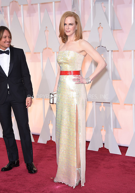 WWW.ACEPIXS.COM<br /> <br /> February 22 2015, Los Angeles Ca.<br /> <br /> Actress Nicole Kidman arriving at the 87 th Annual Academy Awards at the Hollywood and Highland center on February 22 2015 in Hollywood CA.<br /> <br /> <br /> Please byline: Z15/ACE Pictures<br /> <br /> ACE Pictures, Inc.<br /> www.acepixs.com<br /> Email: info@acepixs.com<br /> Tel: 646 769 0430